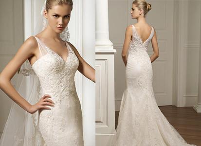 vestidos de novia sencillos. Una novia romántica, es una