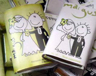 souvenirs casamientos chocolates para bodas